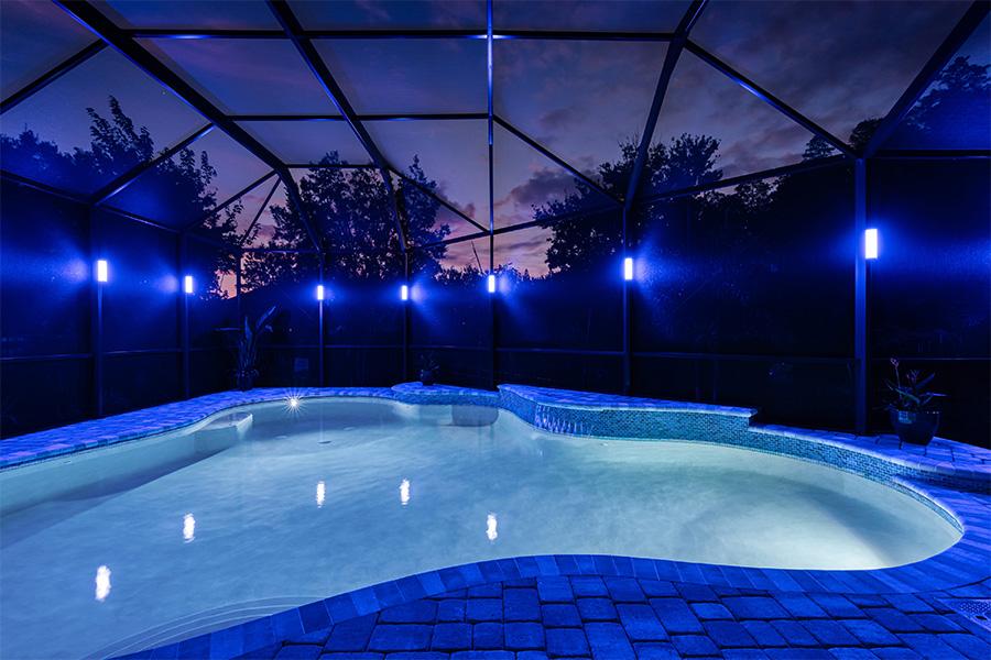 pool lighting Brevard Melbourne Florida by Florida Lightscapes